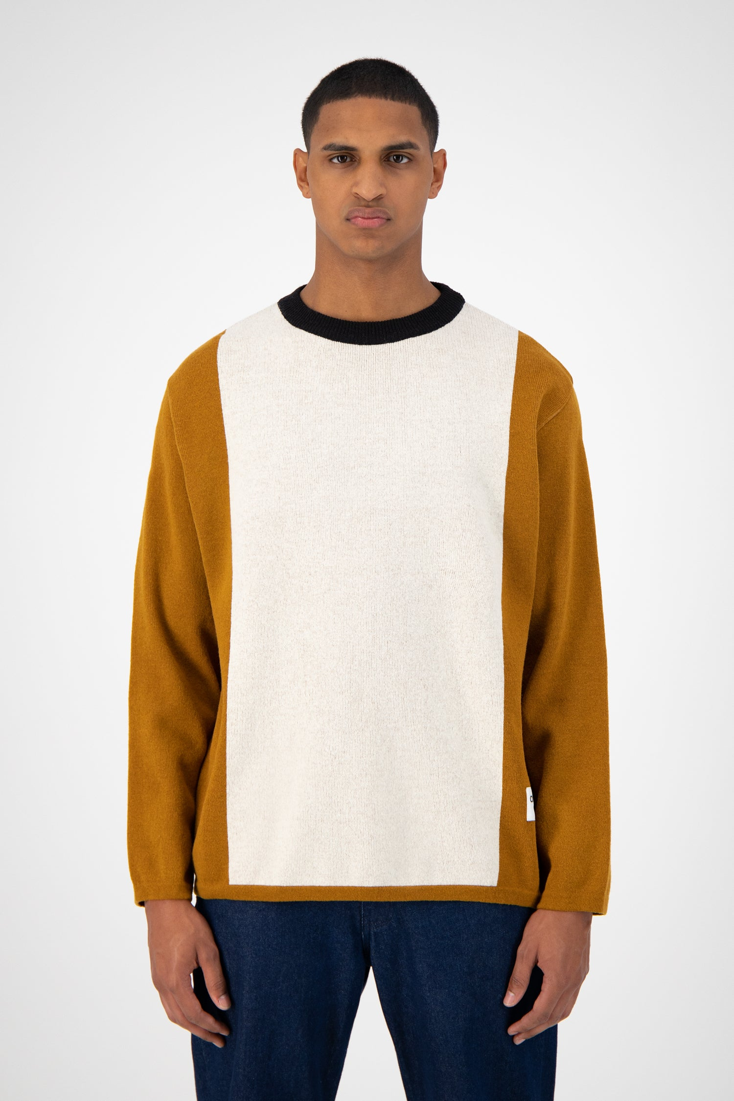 Kahn Knitted Sweater - Brown/Cream