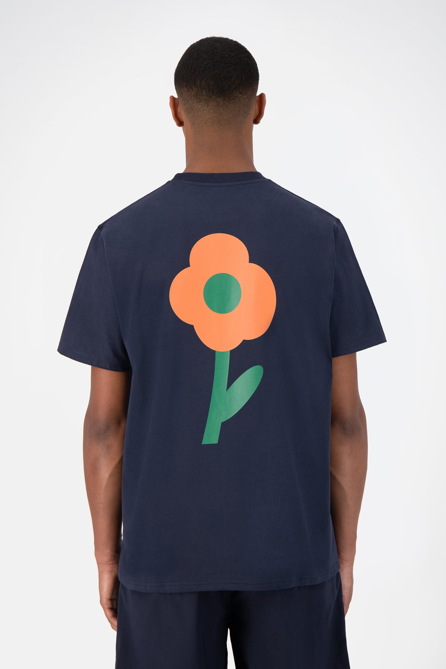 Tomi Back Flower T-shirt - Navy