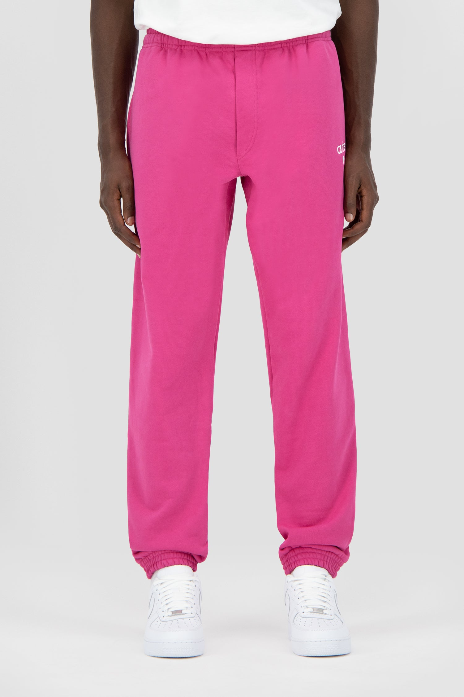 Tristian Heart Sweatpants - Pink