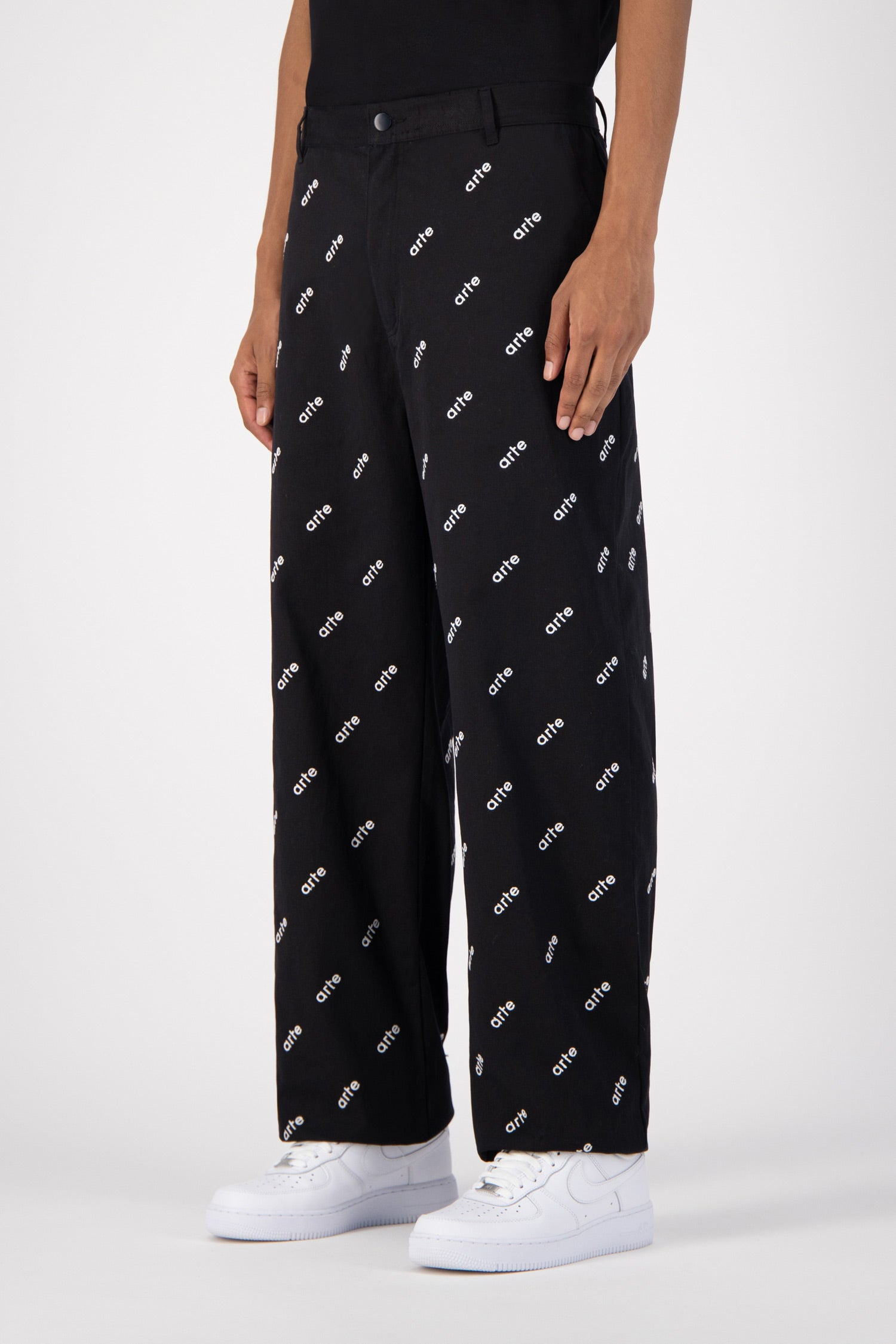 Pantalon All Over Logo - Noir