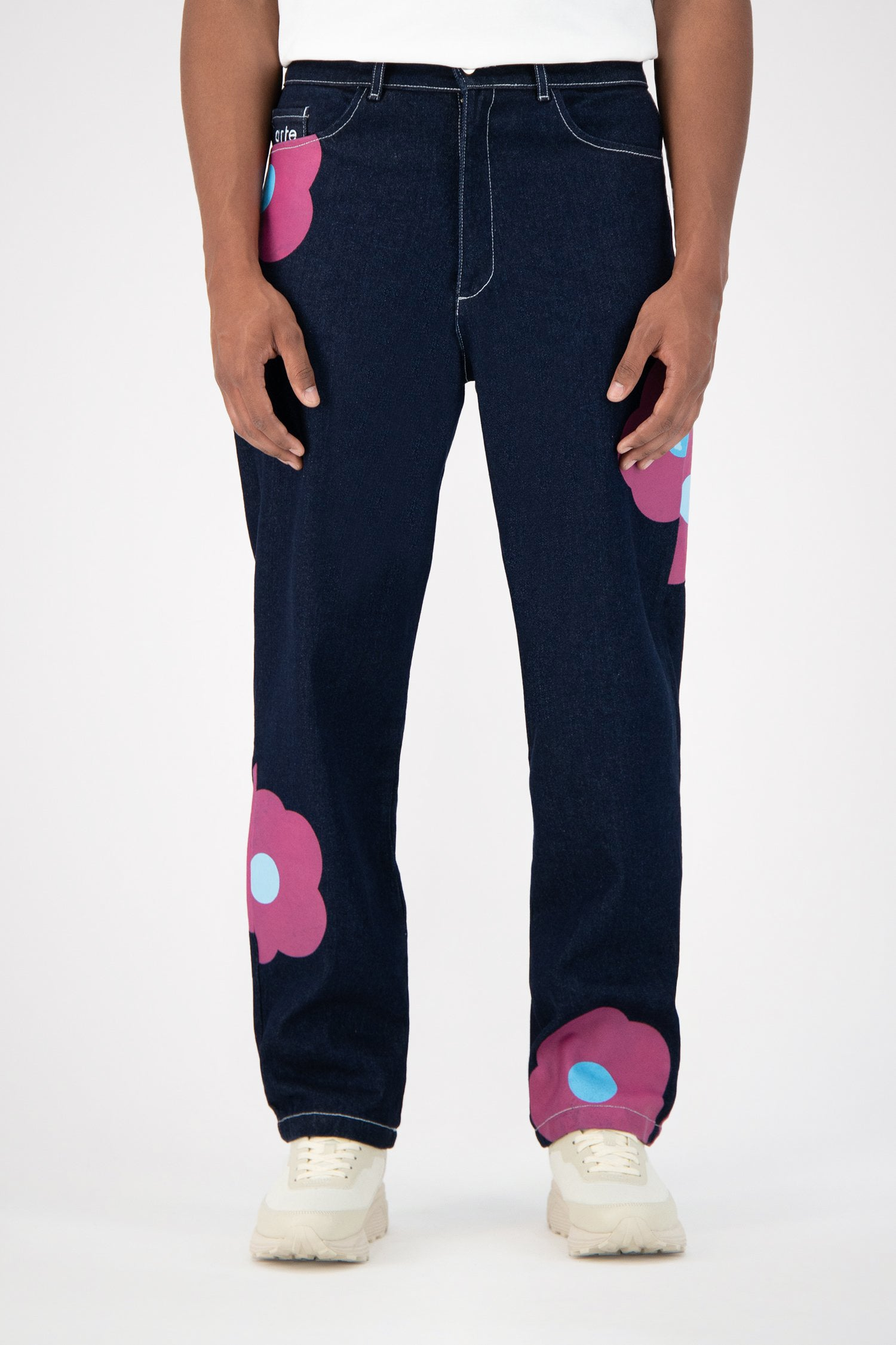Penny Rosa Jeans - Navy/Pink