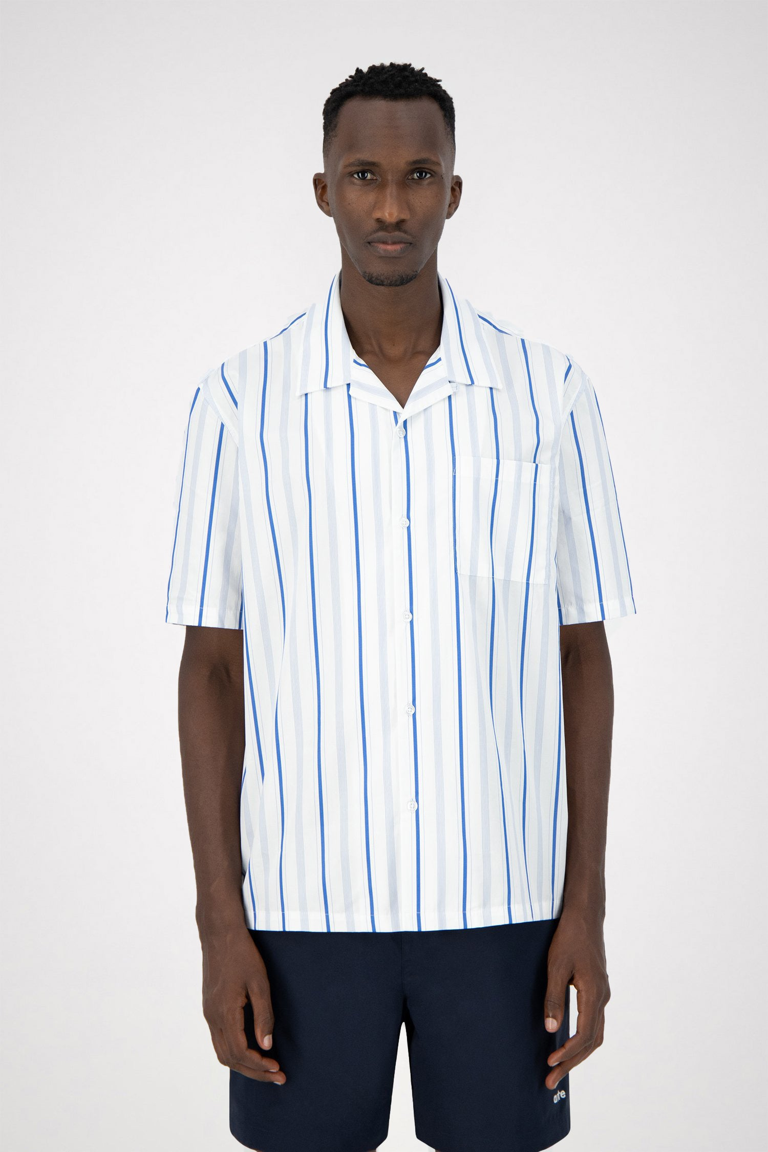 Scotti Stripes Shirt - Blue/Navy