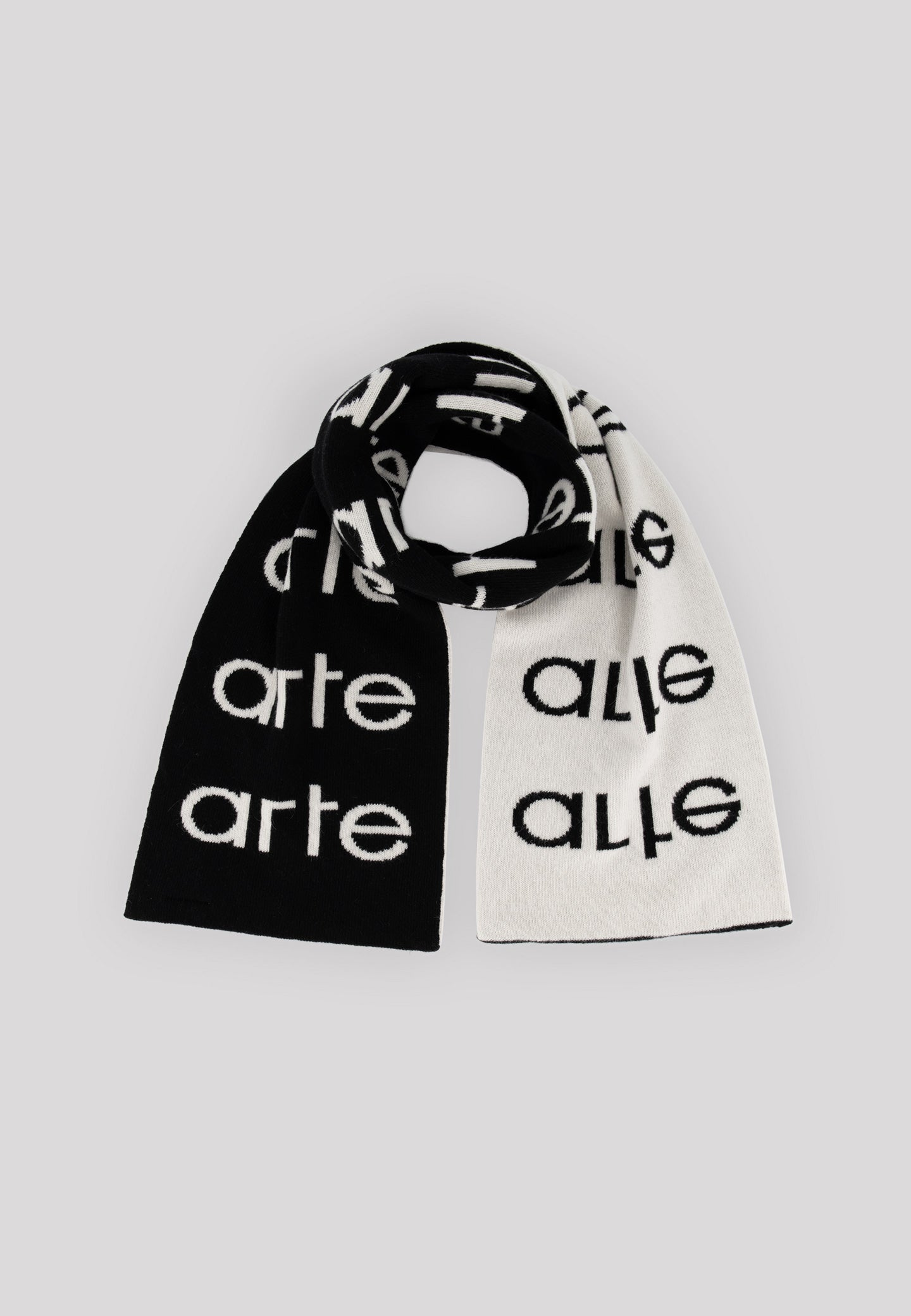 Multi Logo Scarf - Black/White