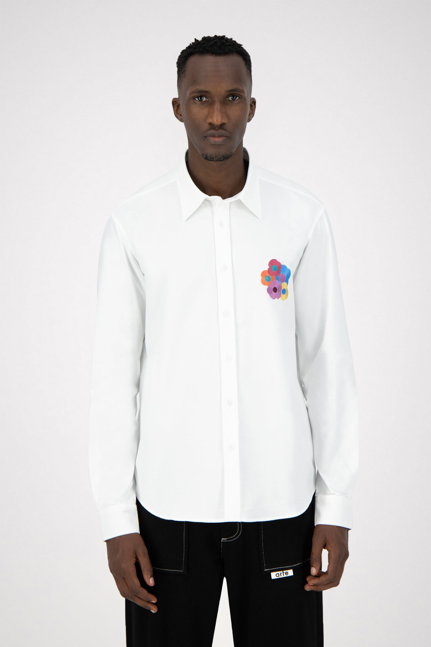 Stockton Flowers Shirt - White