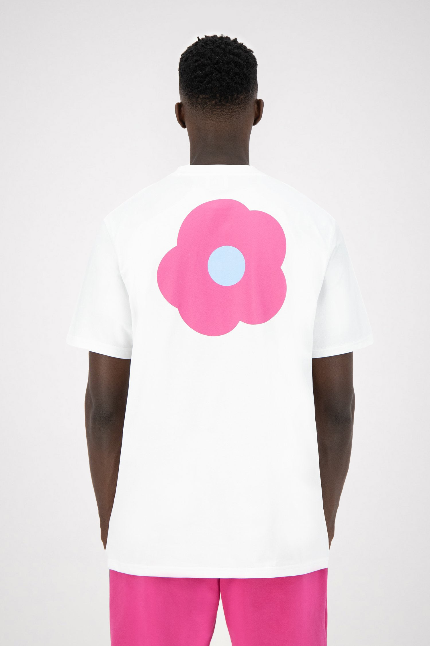 Tomi Back Rosa T-shirt - White