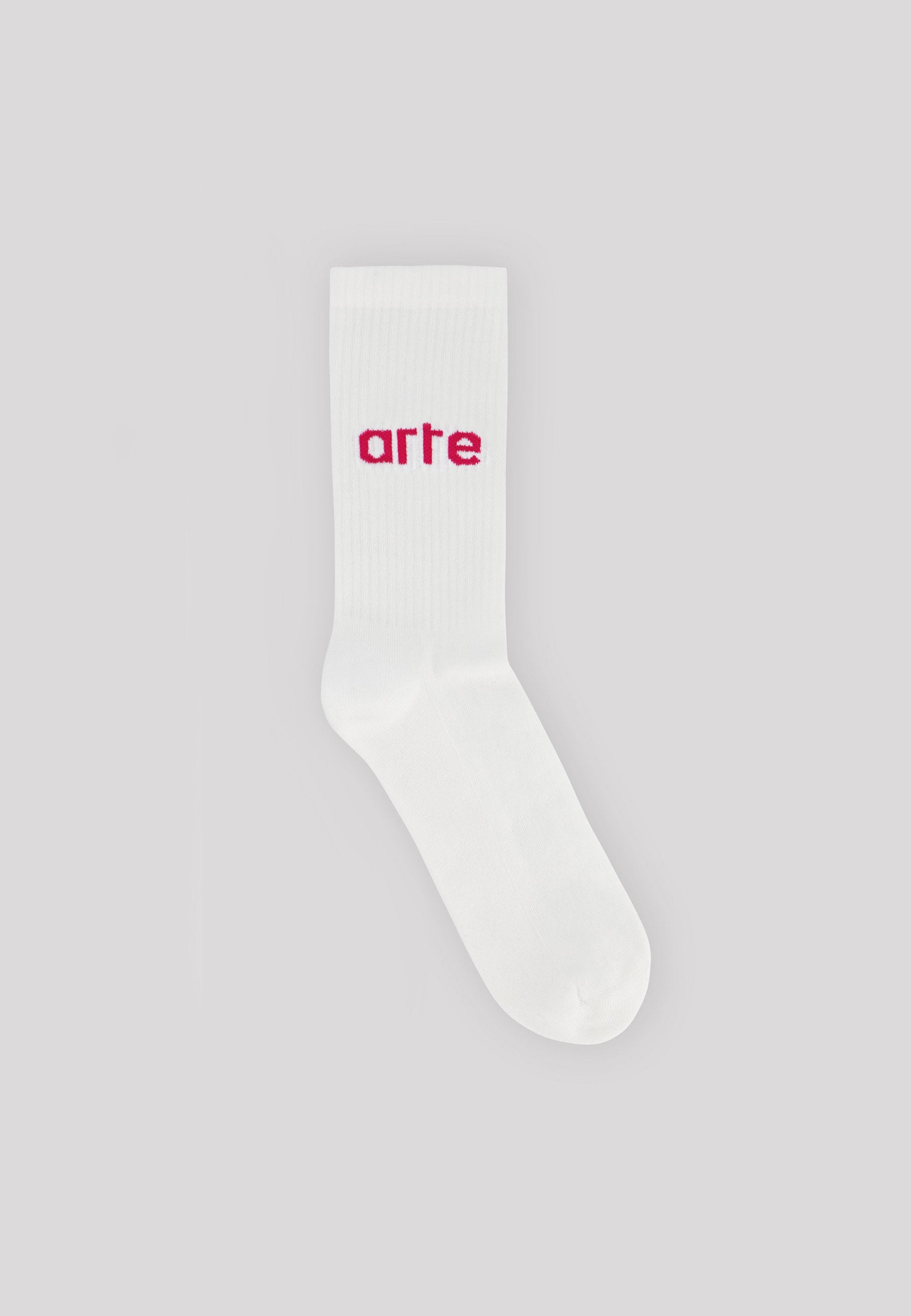 Logo Sock - White/Pink