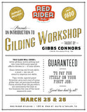 Workshop: An Introduction to Gilding taught by Gibbs Conners