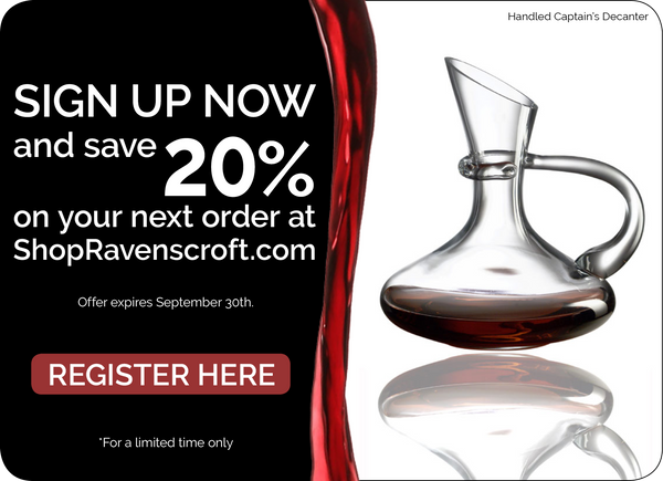 Register here to receive 20% off your next order!