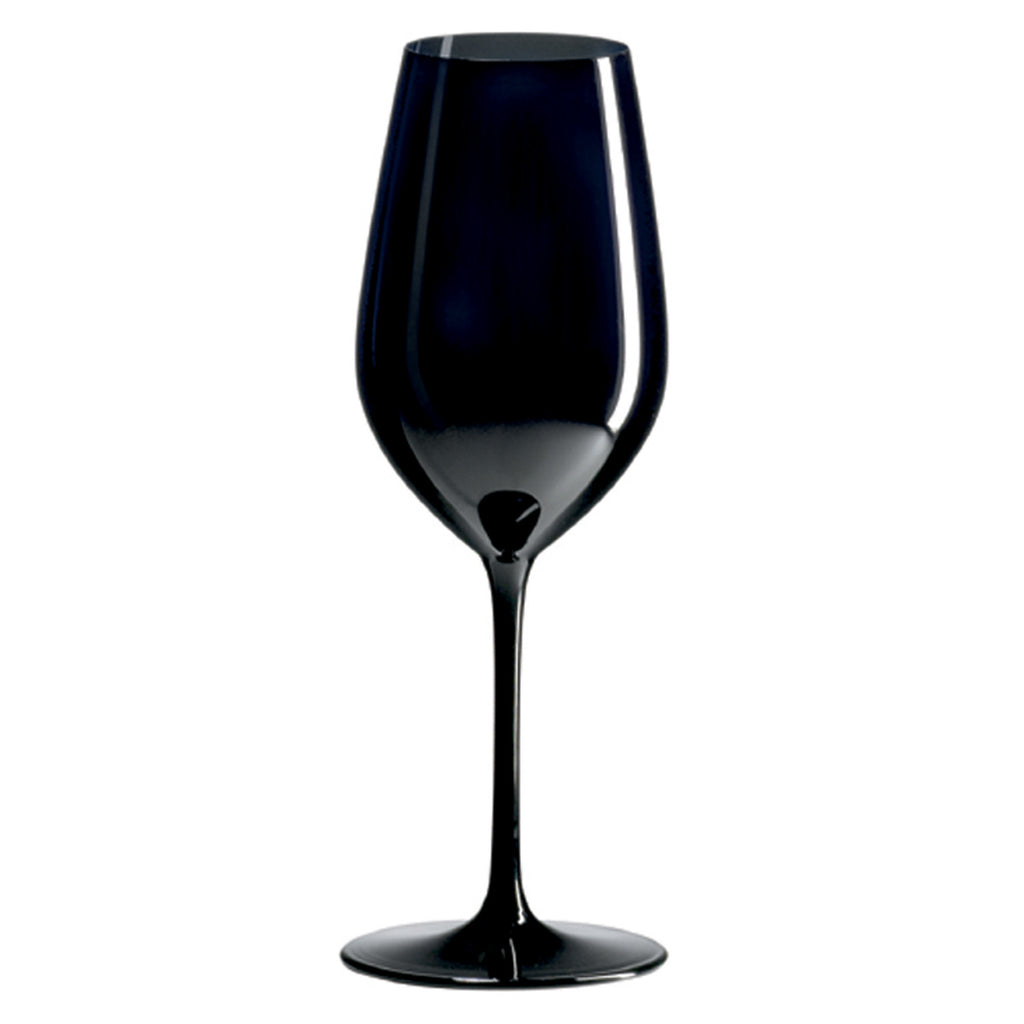 R.Croft Double Blind Black Tasting Glass (Set of 4) with Free Microfiber Cleaning Cloth