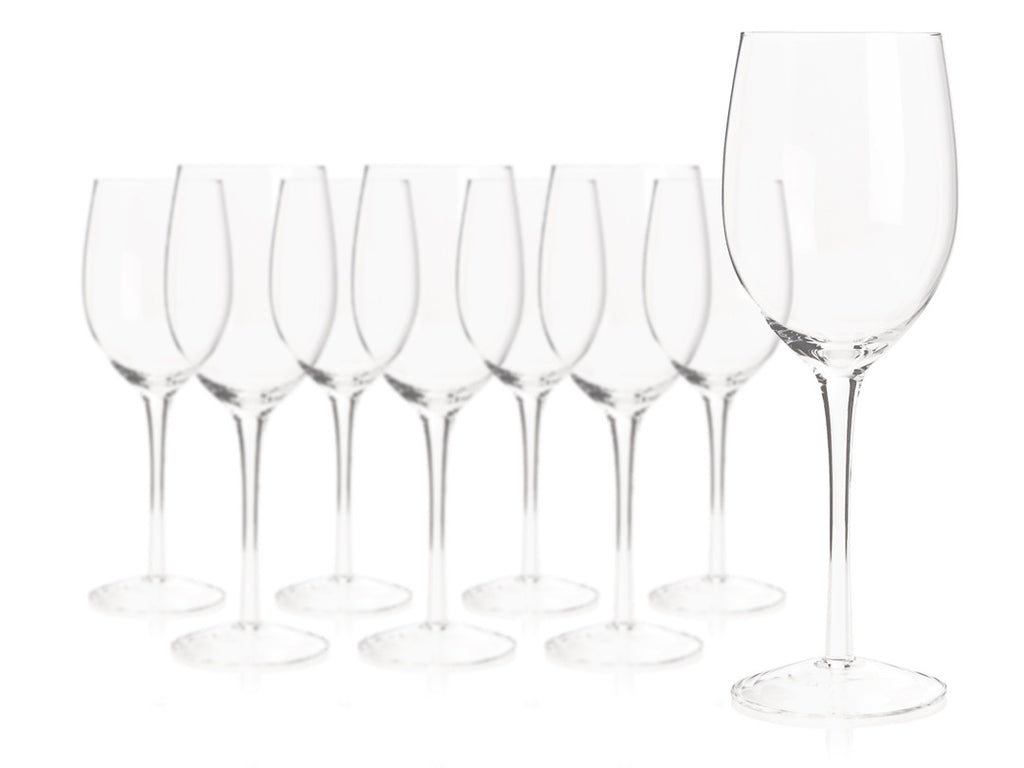 R.Croft Chardonnay Glass (Set of 8) with Free Microfiber Cleaning Cloth