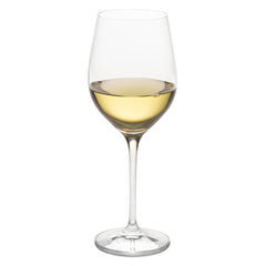Classics White Burgundy Grand Cru Glass (Set of 4) with Free Microfiber Cleaning Cloth