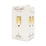 Vintner's Choice Champagne Flute (Set of 4) with Free Microfiber Cleaning Cloth