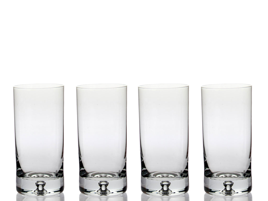Taylor Highball Glass (Set of 4) with Free Microfiber Cleaning Cloth