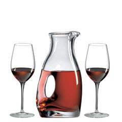 Ring Decanter with Free Luxury Satin Decanter Bag