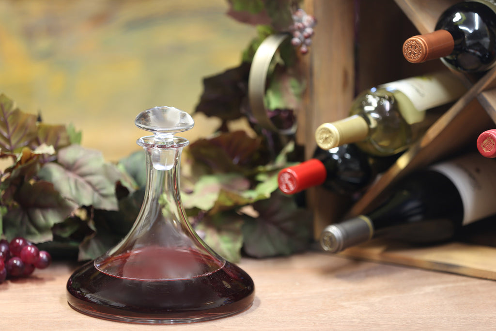 Ship's Table Decanter with Free Luxury Satin Decanter and Stopper Bags