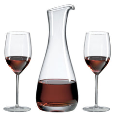 Burgundy Wine Series Gift Set with Free Luxury Satin Decanter and Microfiber Cleaning Cloth