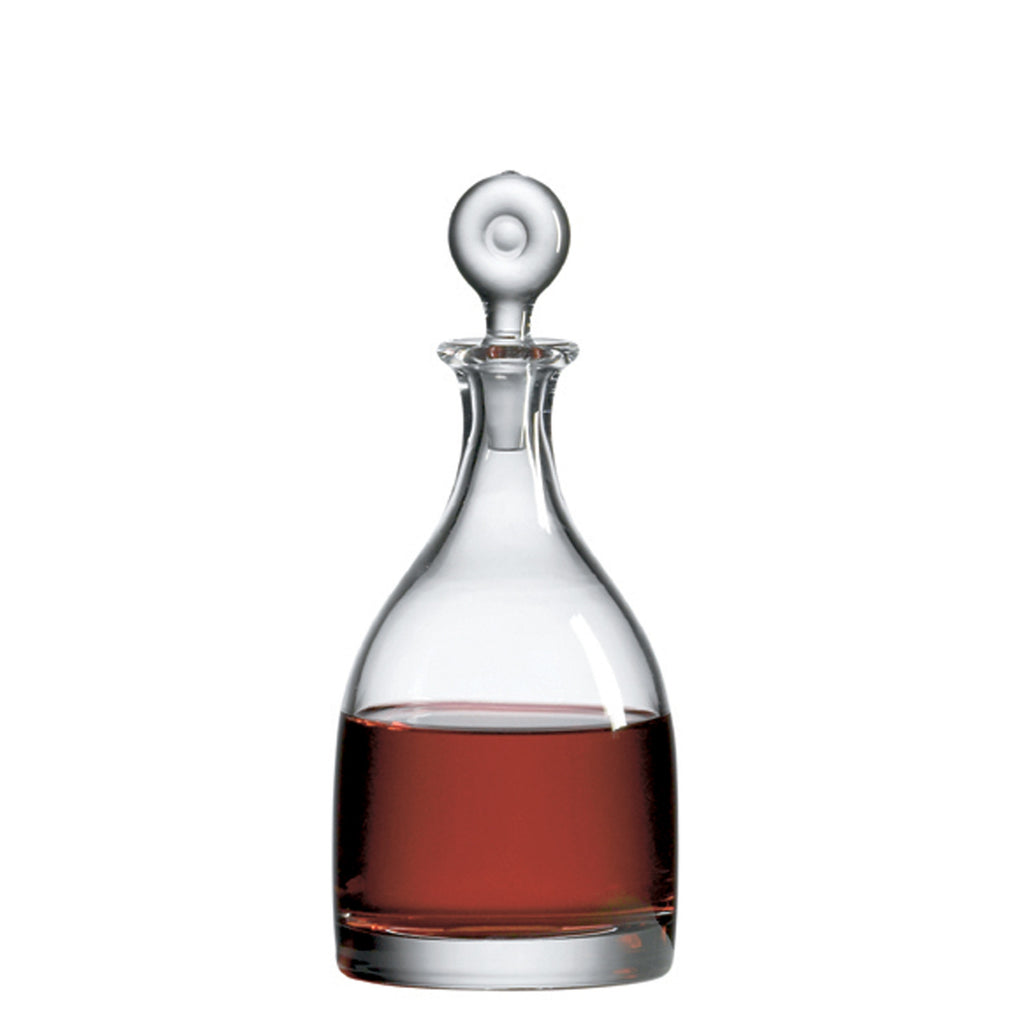 Monticello Single Decanter with Free Luxury Satin Decanter and Stopper Bags