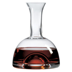 Beveled Orbital Single Decanter with Free Luxury Satin Decanter and Stopper Bags