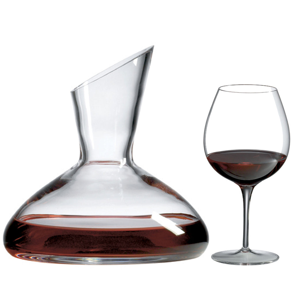 Captain's Decanter Gift Set (5 Pieces) with Free Luxury Satin Decanter and Stopper Bags and Microfiber Cleaning Cloth