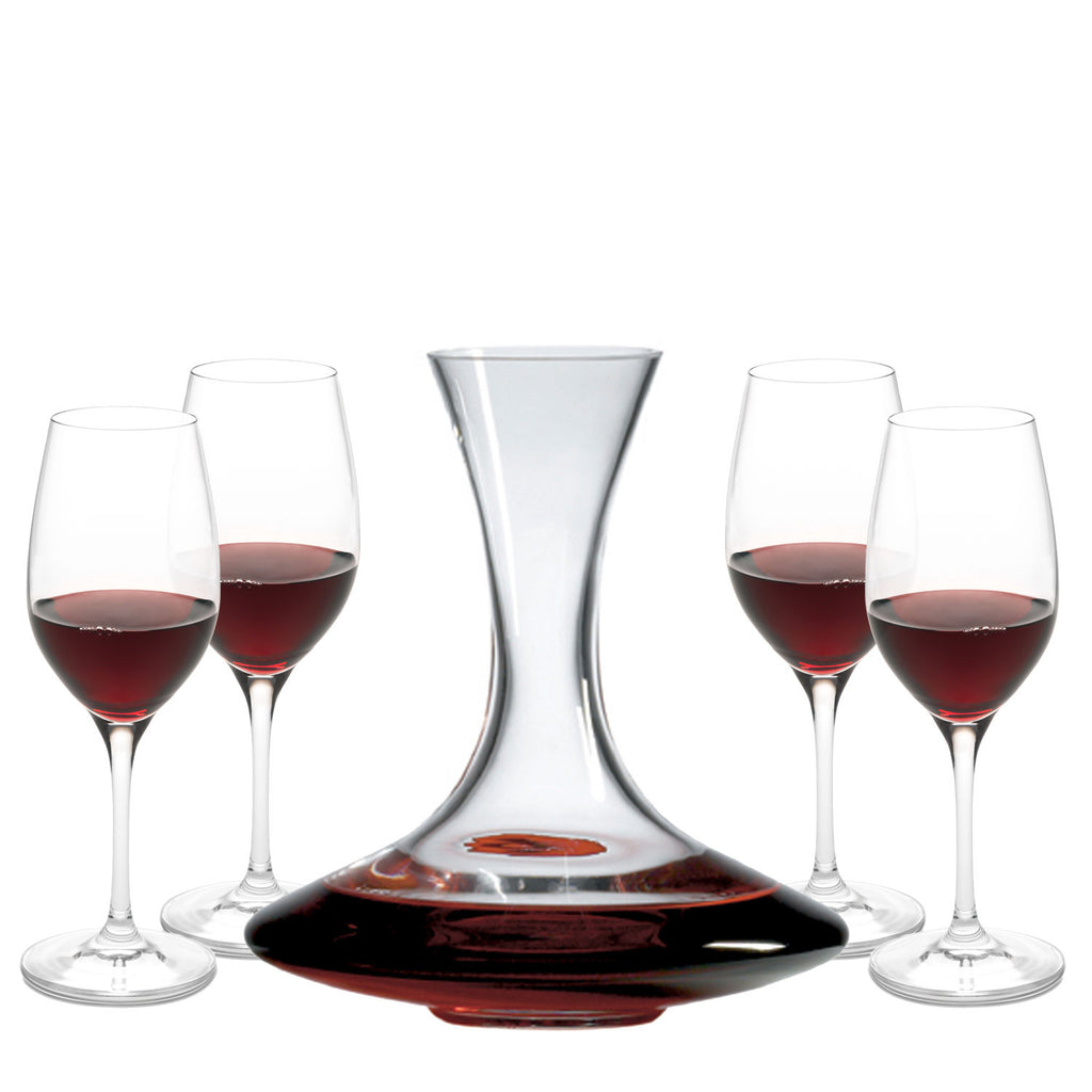 Chianti Wine Series Gift Set with Free Luxury Satin Decanter and Stopper Bags and Microfiber Cleaning Cloth