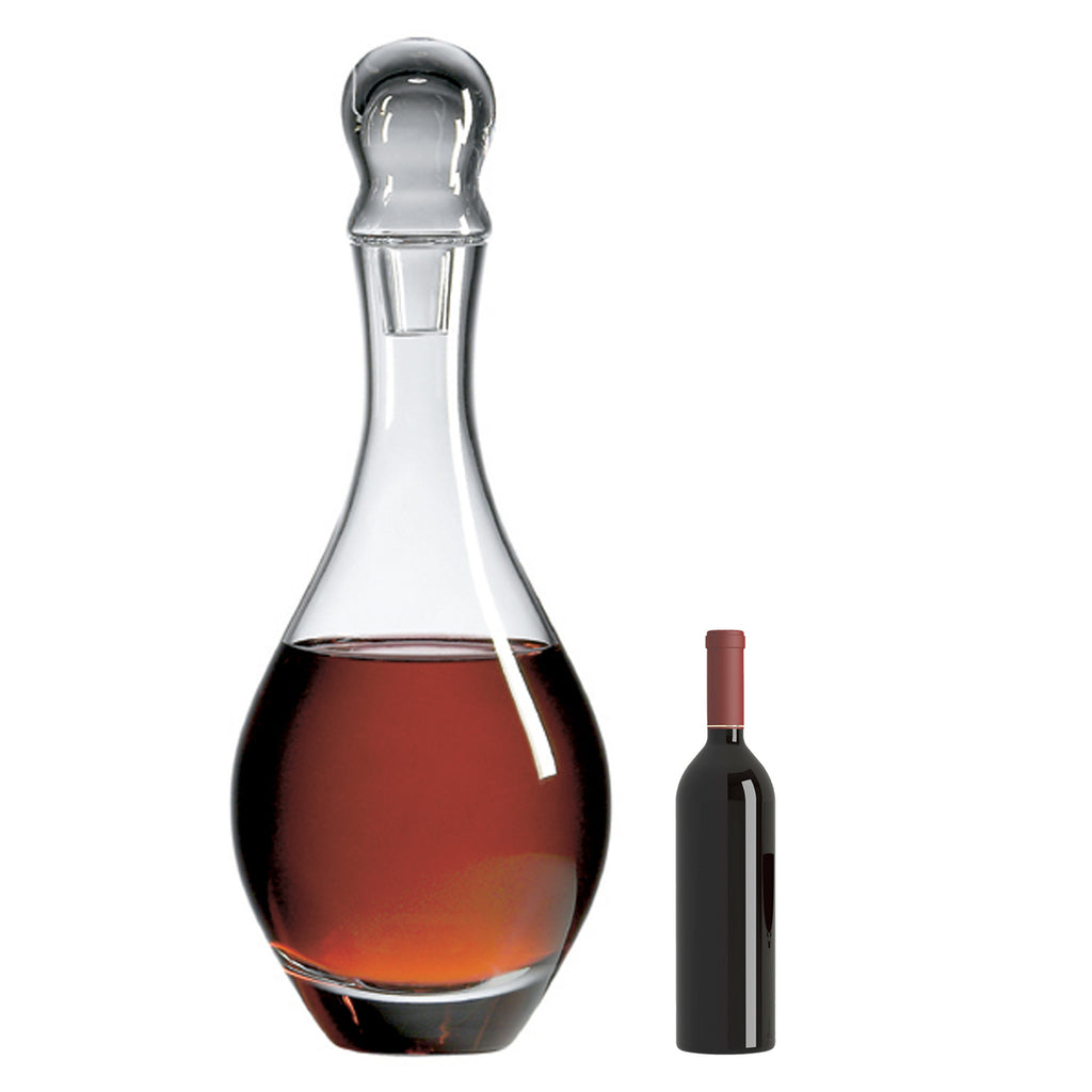 Classic Salmanazar Decanter with Free Microfiber Cleaning Cloth