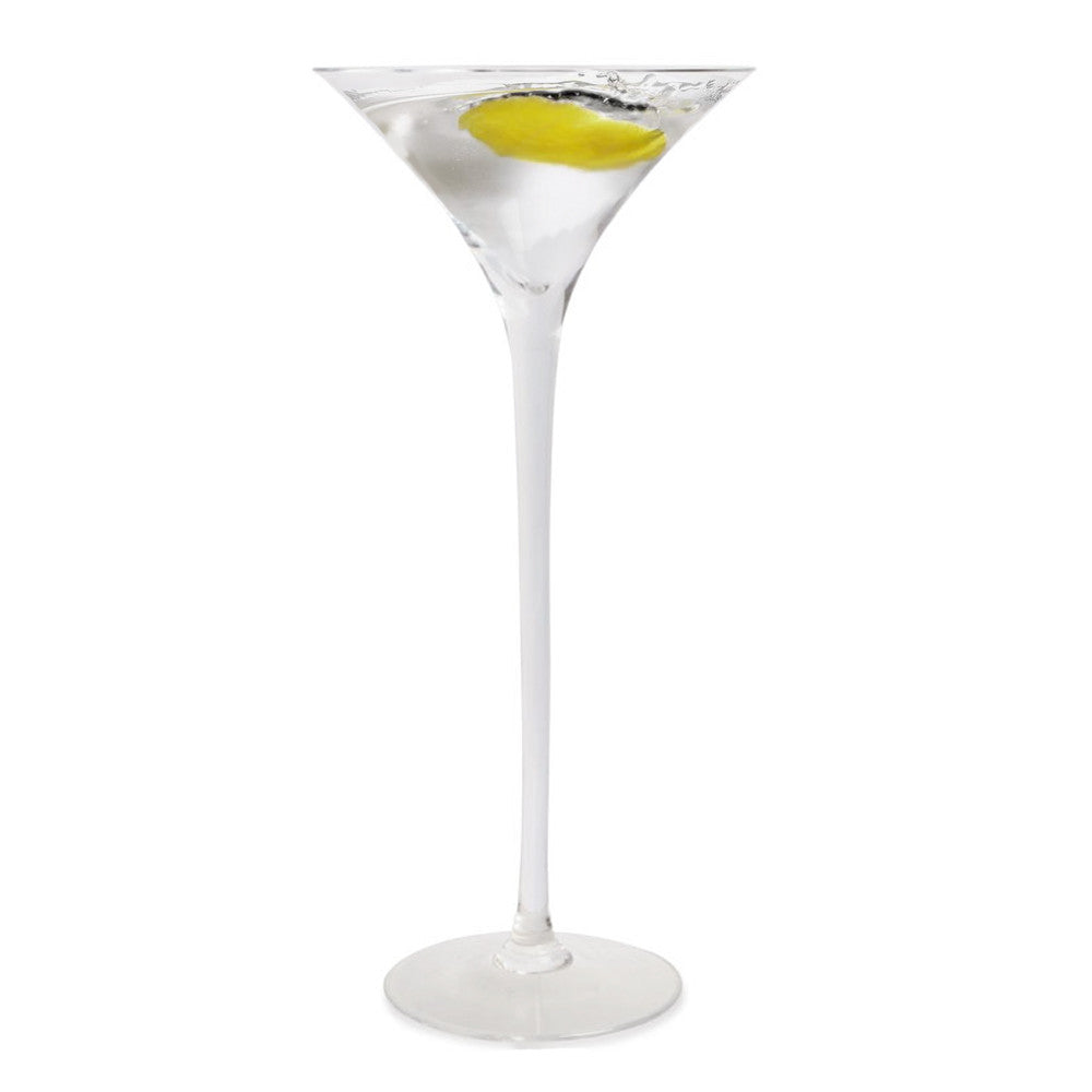Long Stem Martini Glass (1 Glass) with Free Microfiber Cleaning Cloth