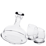 Revolution Decanter Set with Free Luxury Satin Decanter and Stopper Bags and Microfiber Cleaning Cloth