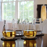 Single Malt Scotch Tumblers (Set of 4) with Free Microfiber Cleaning Cloth
