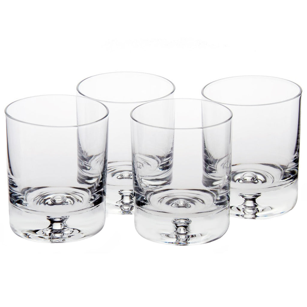 Taylor Double Old Fashioned Glass (Set of 4) with Free Microfiber Cleaning Cloth