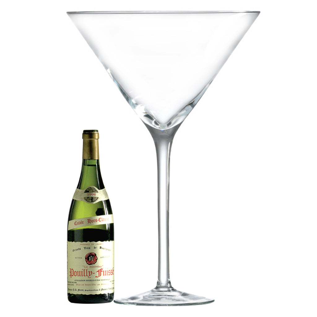 Maxi Martini Glass (1 Glass) with Free Microfiber Cleaning Cloth