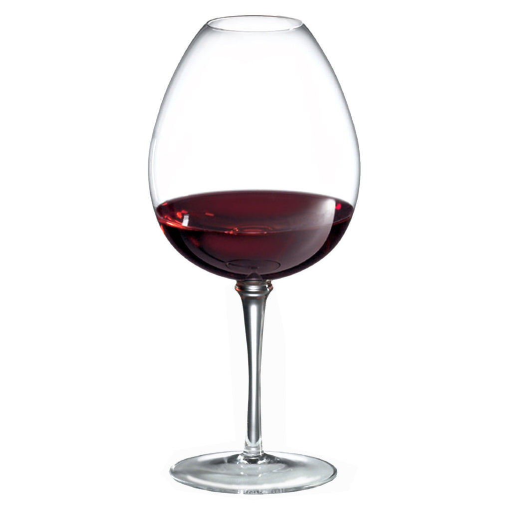 Amplifier Mature Red Wine Glass (Set of 4) with Free Microfiber Cleaning Cloth