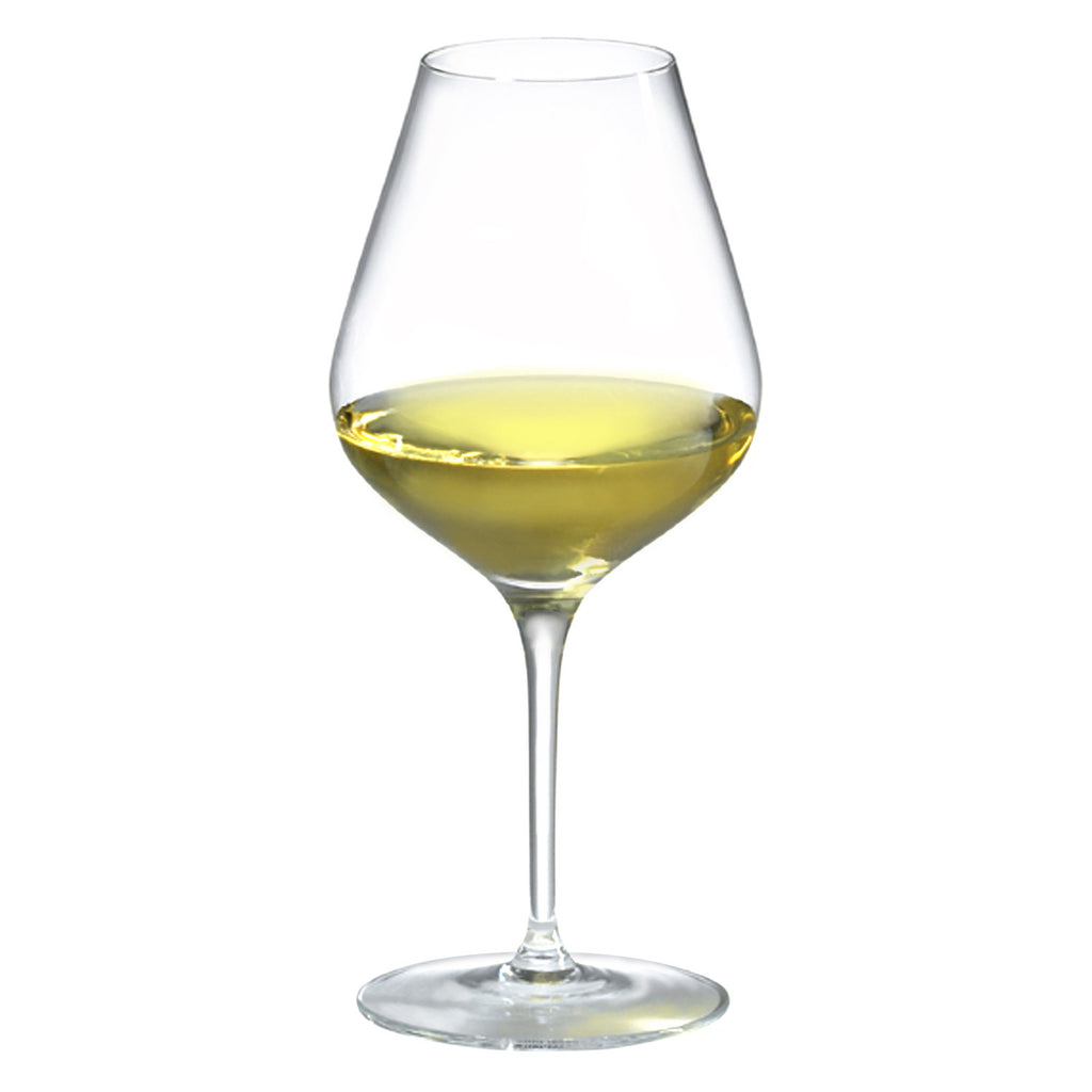 Amplifier Unoaked White Wine Glass (Set of 4) with Free Microfiber Cleaning Cloth