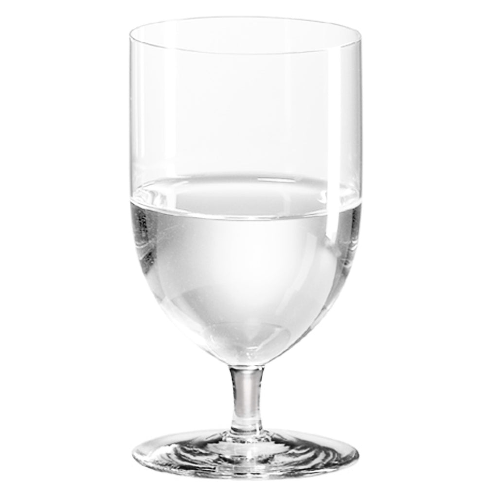 Classics Short Stem Mineral Water Glass (Set of 4) with Free Microfiber Cleaning Cloth