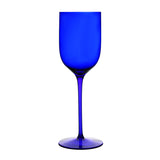 Classics Long Stem Mineral Water Glass, Cobalt Blue (Set of 4) with Free Microfiber Cleaning Cloth