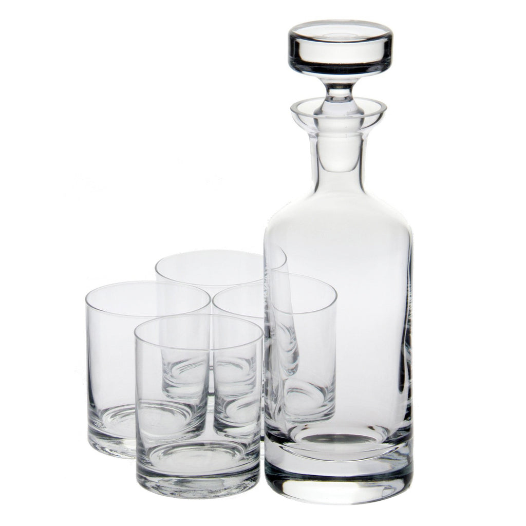 Wellington Double Old Fashioned Decanter Gift Set with Free Luxury Satin Decanter and Stopper Bags and Microfiber Cleaning Cloth