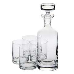 Taylor Double Old Fashioned Decanter Gift Set with Free Luxury Satin Decanter and Stopper Bags and Microfiber Cleaning Cloth