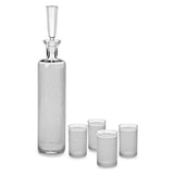 Vodka Decanter Gift Set with Free Luxury Satin Decanter and Stopper Bags and Microfiber Cleaning Cloth