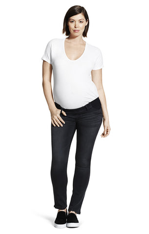 DL1961 Maternity Mid Rise Skinny Ankle Jeans in Charleston