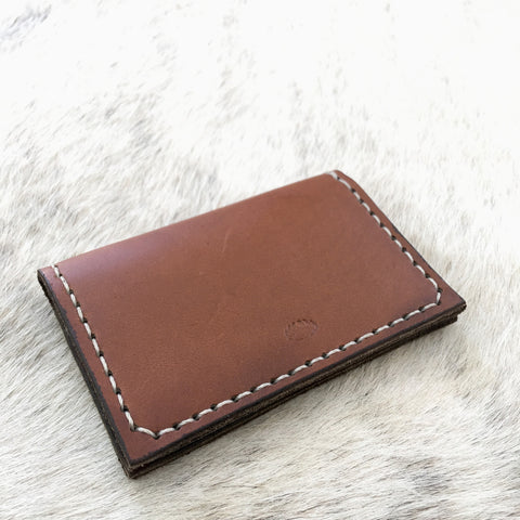 Running Bear Goods Hand Stitched Leather Card Holder