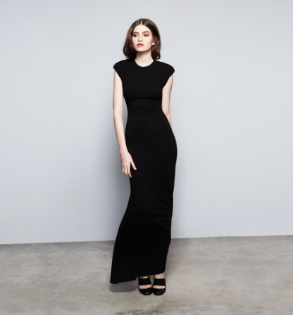 Nadia Tarr Padded Shoulder Gown