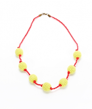 Peppercorn Kids Crochet Bead Necklace Yellow