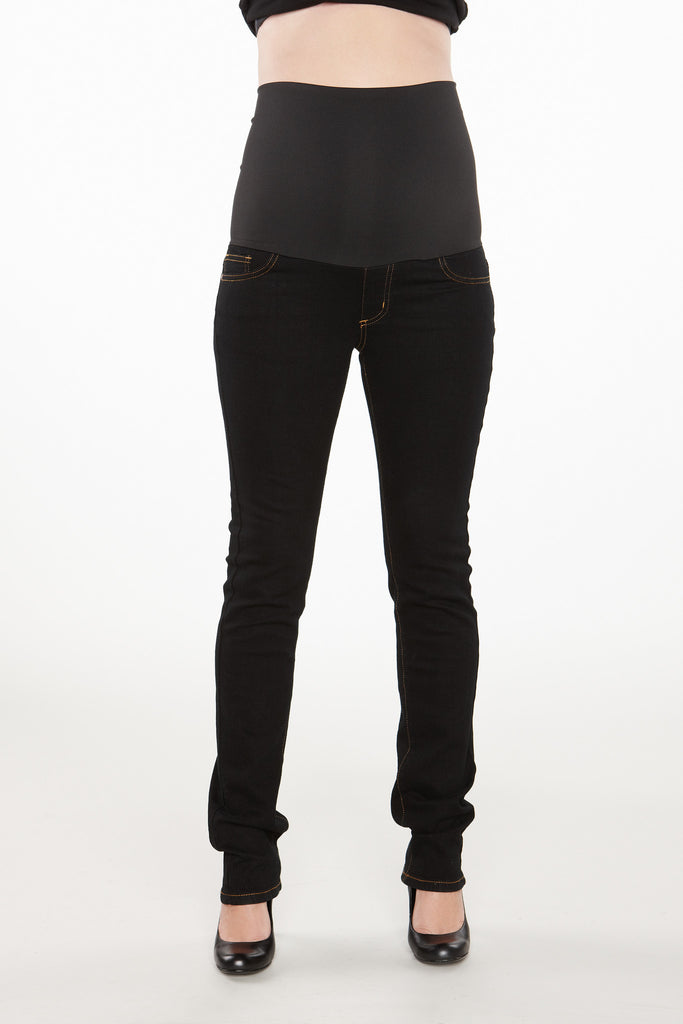Maternal America Belly Support Skinny Jeans in Black