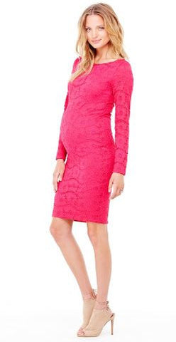 Ingrid & Isabel Boatneck Lace Dress in Berry