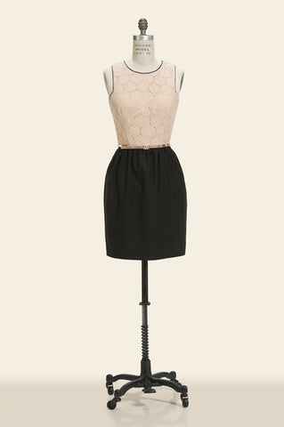 Corey Lynn Calter Tessa Seamed Dress with Belt