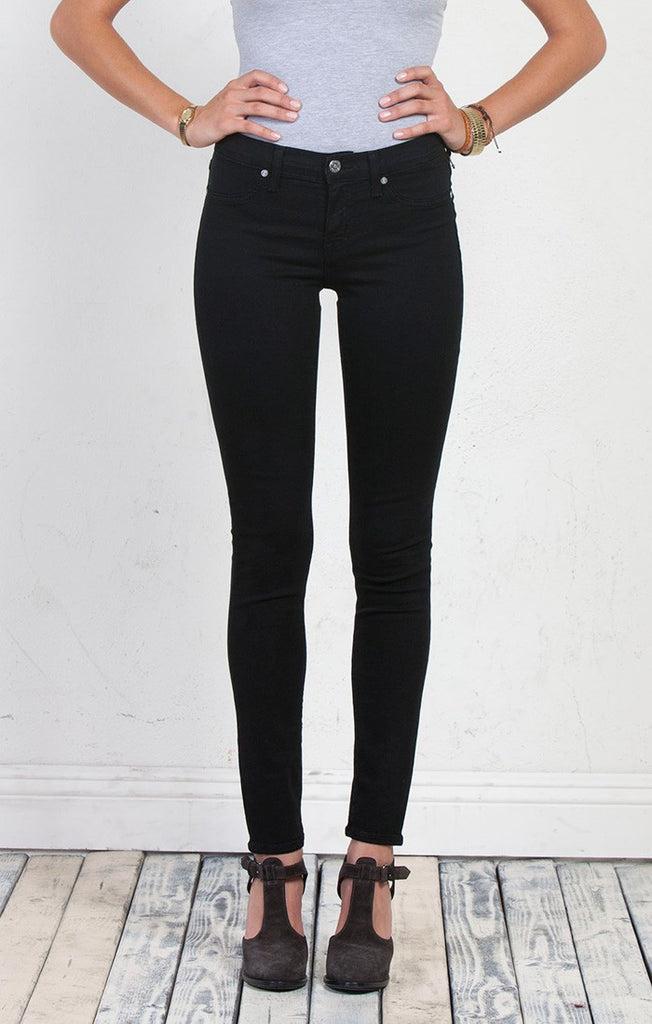 Henry & Belle Coated Super Skinny Ankle Jeans in Pitch Black