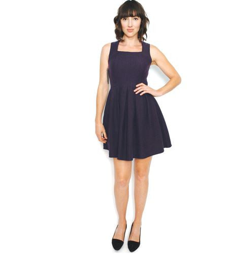 Curator Darling Dress in Eggplant