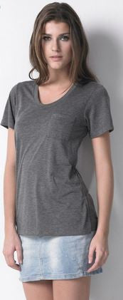Dote Pocket Tee in Charcoal