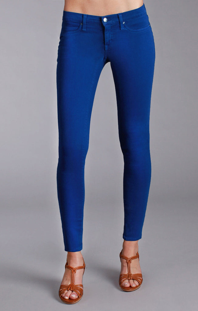 Henry and Belle Super Skinny Ankle Jeans in Cobalt