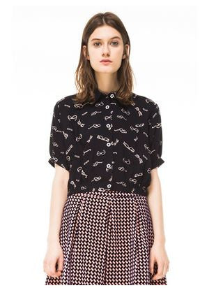 Kling Glasses Crop Shirt