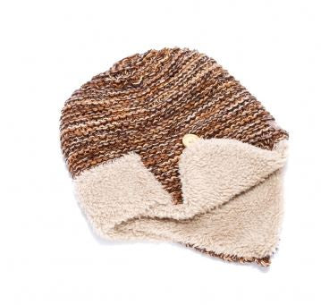 Peppercorn Kids Sherpa Earflap Hat in Brown